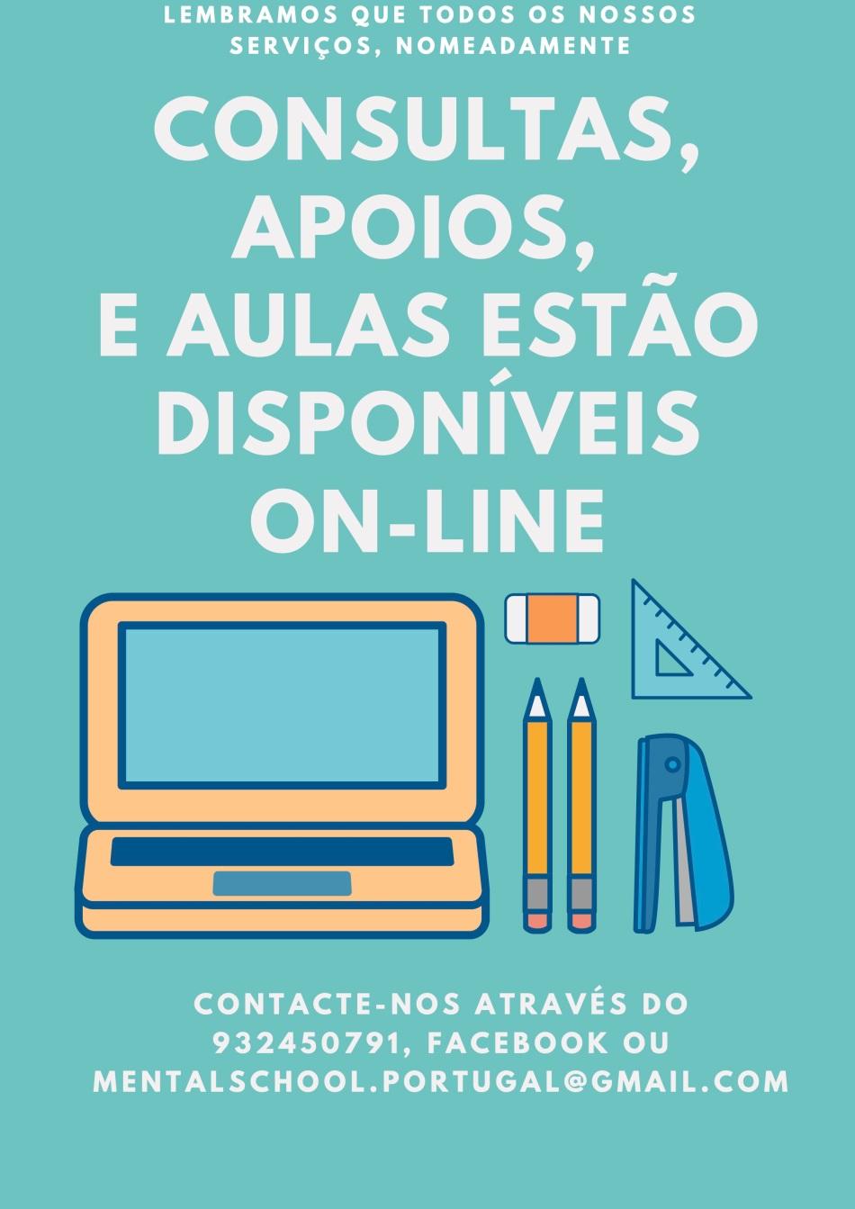Para apoios ou aulas on-line